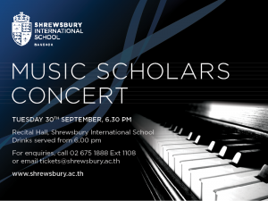 Music Scholars e-blast Sept 2014